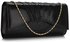 LSE00305 - Black  Metallic Clutch Bag