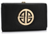 LSP1063 - Black Purse/Wallet with Metal Decoration