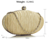 LSE00315 - Nude Ruched Satin Clutch