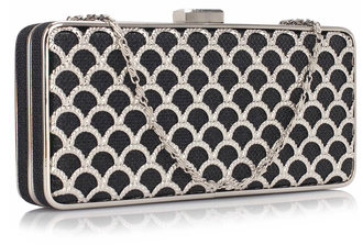 LSE00308 - Black Luxury Clutch Purse
