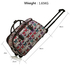 AGT00308A - Grey Light Travel Holdall Trolley Luggage With Wheels - CABIN APPROVED