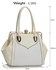 LS00440 - Wholesale & B2B White Patent Metal Frame Satchel Supplier & Manufacturer