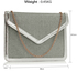 LSE00310 -  Silver Flap Clutch purse