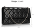 LSE00316 - Black Flap Clutch Bag