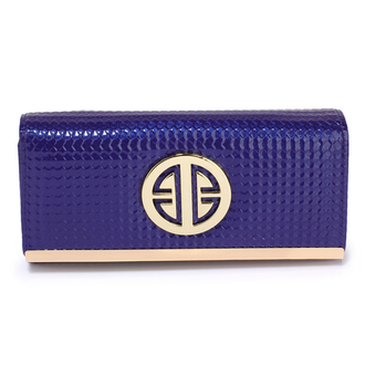 LSP1058A - Navy Purse / Wallet With Metal Detail
