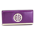 LSP1058A - Purple Purse / Wallet With Metal Detail