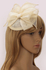 LSH00206 - Ivory Mesh Hat Feather Fascinator