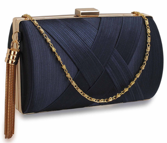 LSE00318 - Navy Tassel Clutch
