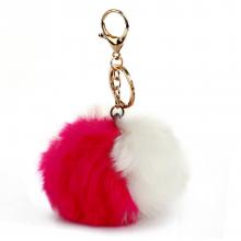 3dc7fa7a8c AGC1015 - Pink   White Faux Fur Bag Charms