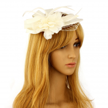 anna grace Hat Mesh Beaded Fascinator