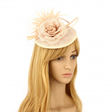 anna grace Feather and Flower Fascinator