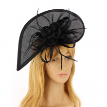 anna grace Feather & Flower Fascinator
