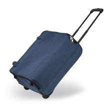 3a6406f8a6b31 AGT0015 - Navy Travel Holdall Trolley Luggage With Wheels - CABIN APPROVED