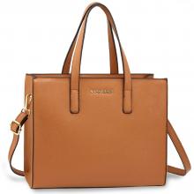 36454fe4e8be AG00592 - Brown Anna Grace Fashion Tote Bag