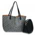 wholesale anna grace reversible large tote bag