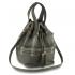 anna grace drawstring bucket bag